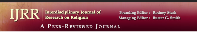 Interdisciplinary Journal of Research on Religion